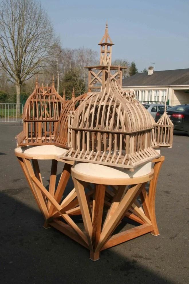 Maquettes en bois porte fortifiée Manoir de la Saucerie à Domfront