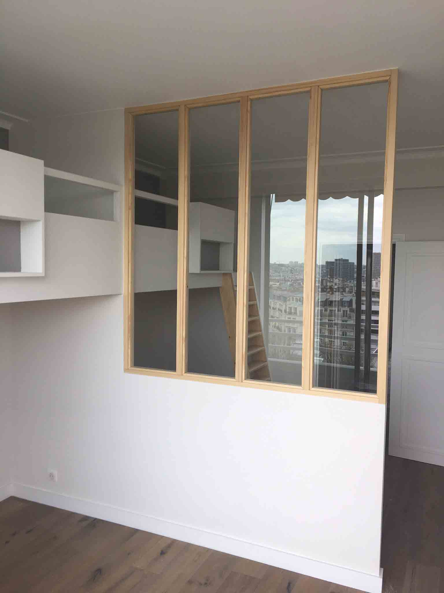 Baty r construction et am nagement int rieur en bois sur for Verriere interieur bois