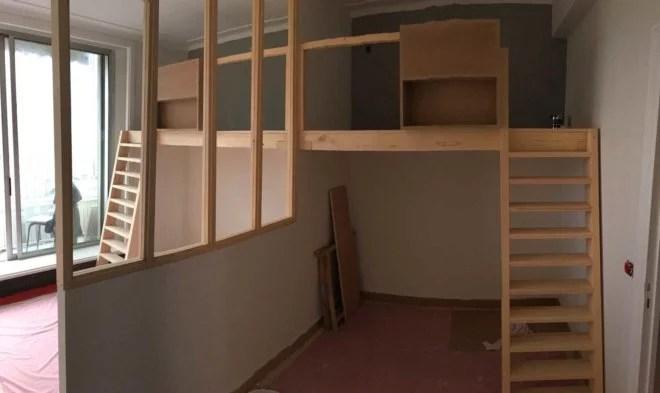 Aménagement intérieur bois pour chambre d'enfants artisan paris