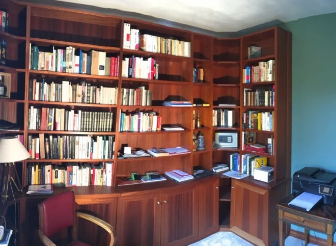 bibliothèque sur mesure artisan Paris