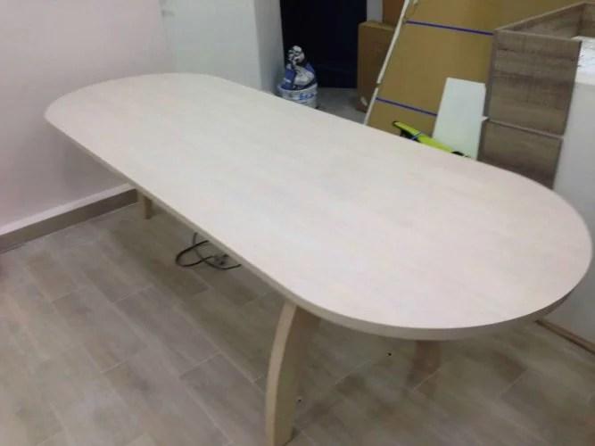 Table en bois sur mesure artisan paris