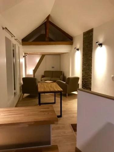 aménagement appartement petit espace mezzanine et dressing