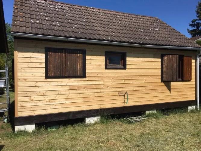 Bardage bois horizontal mélèze 92