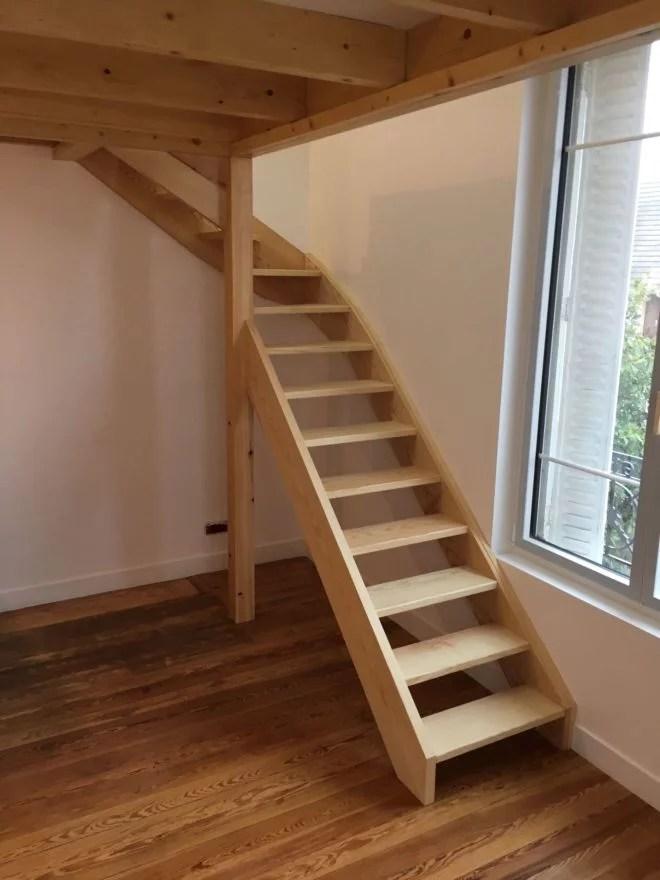 escalier mezzanine aménagement intérieur sur mesure entreprise 91