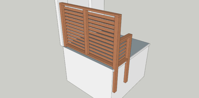 brise vue balcon bois Douglas artisan 91