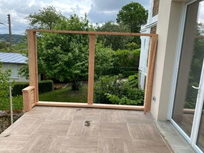 brise vue bois balcon sur mesure artisan 91
