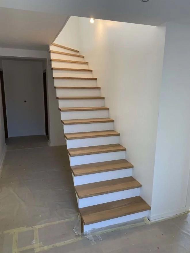 escalier chene contremarche blanche BATY'R 91