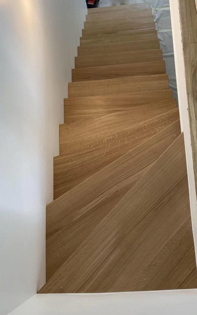escaliers marches en chêne sur mesure 91