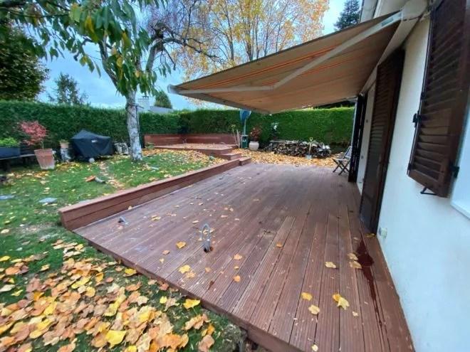 terrasse bois double niveau sur terre essonne 91