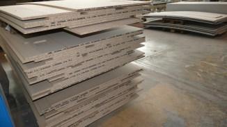 Fertigung - Holzfaserplatten für Beplankung