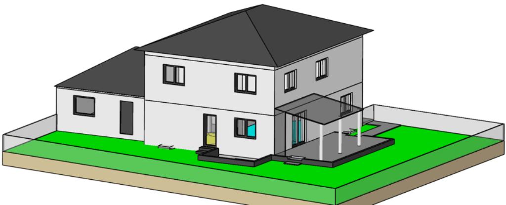 Haus südwest Ansicht