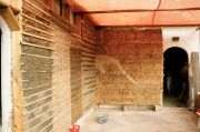 external thermal strawbale insulation wrapping