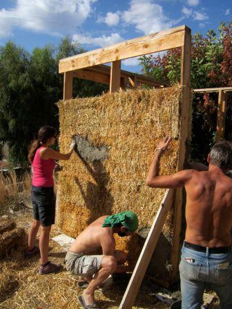 straw bale infill CUT construction asbn Crete