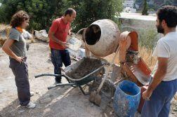 straw bale plaster tadelakt workshop Paleokastro Crete
