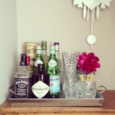 Serving Tray as a modified bar cart