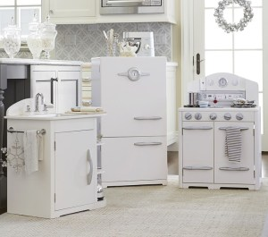 Neutral, Gray and White Kid's Play Kitchens