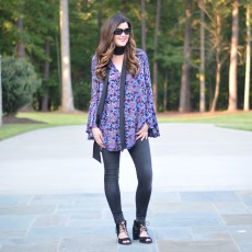 Floral Print Tunic For Fall