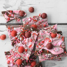 Cherry & Chocolate Valentine's Bark