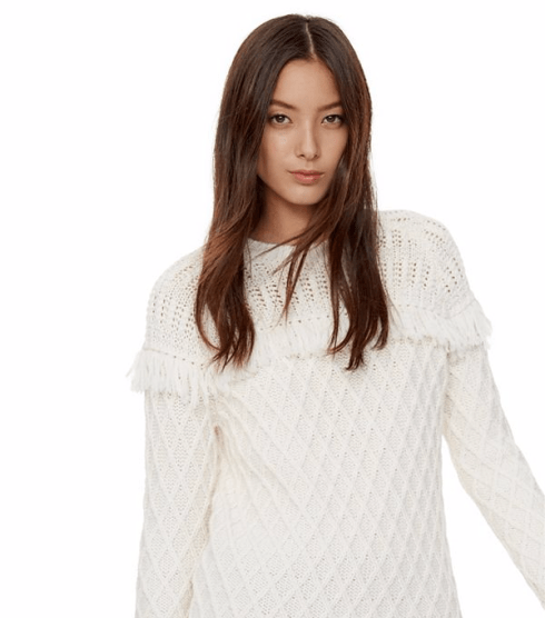 Tory Burch Fringe Sweater