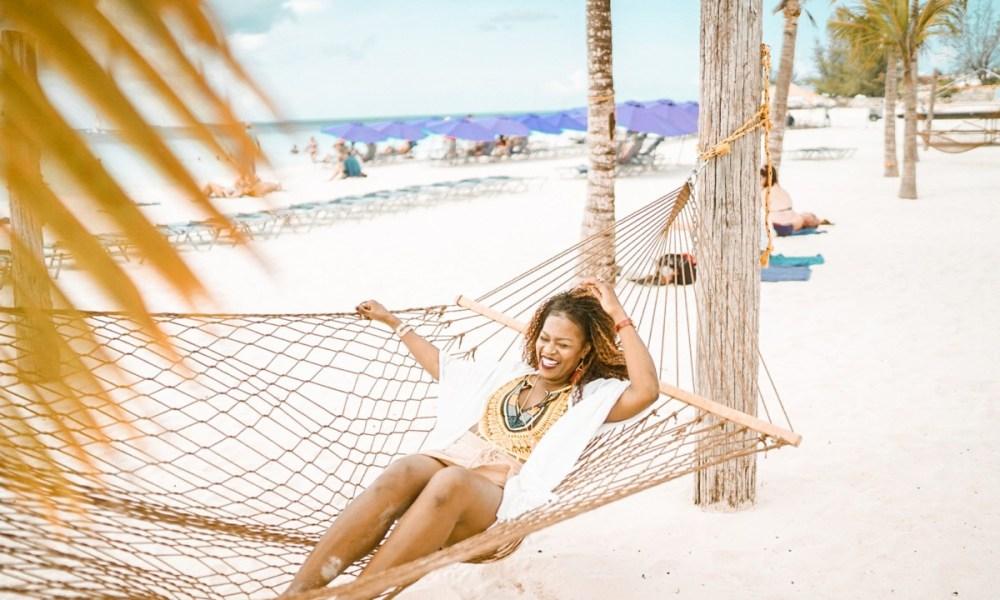 black woman in hammock