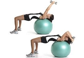 Chest Press. Don't forget to tighten your abs to create balance as you push upward. You can also use a bench if needed.