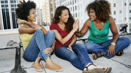 Black Female Friends laughing