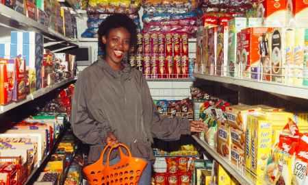 Black woman at supermarket