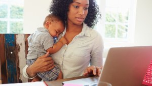 black woman with child