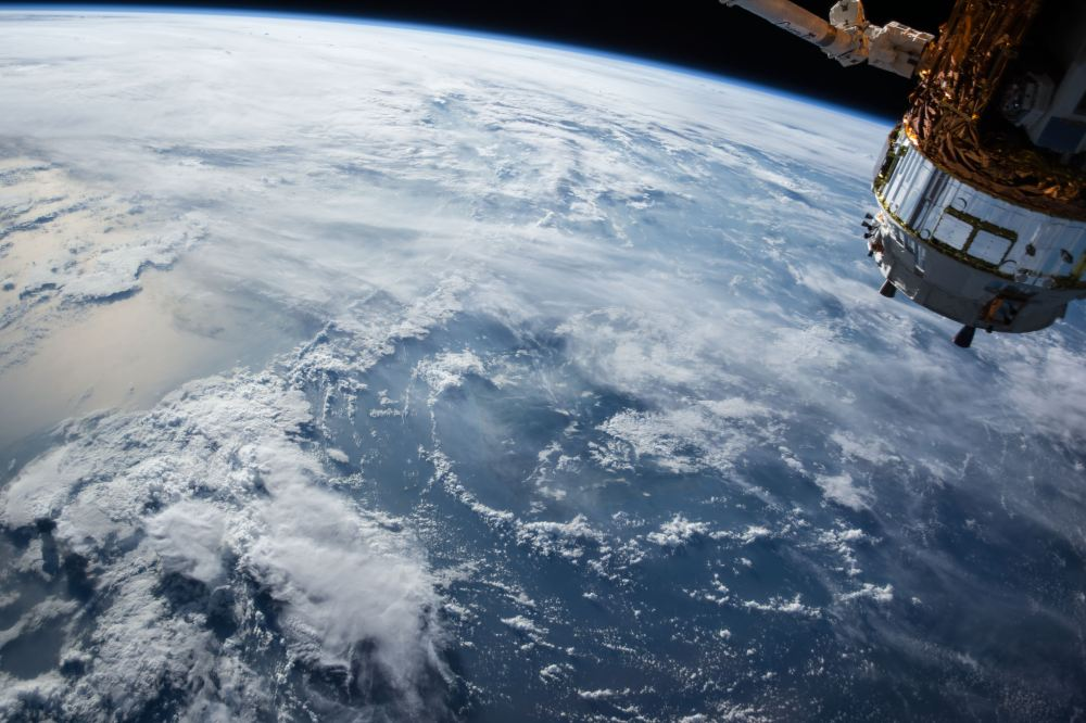 outer space satellite