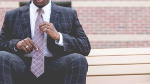 black man wearing suit