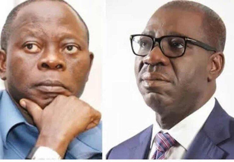 Oshiomhole reacts to Obaseki's disqualification