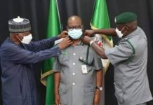 Abdullahi Babani During His Confirmation as DCG of Nigerian Customs Service