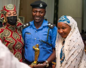A police officer and wife at the SAEMA Award