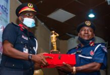 officials of NSCDCat the SAEMA Awards 2020