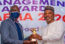 ACG Adewale Adeniyi FNIPR presents SAEMA Award to DSS Spokesperson, Dr Peter Afunanya