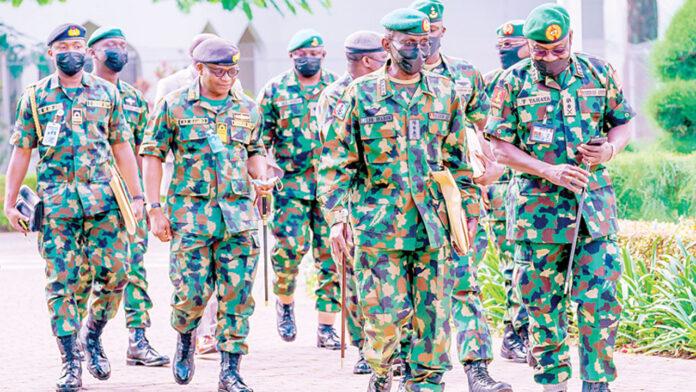 Service Chiefs General Lucky Irabor and Faruk Yahaya
