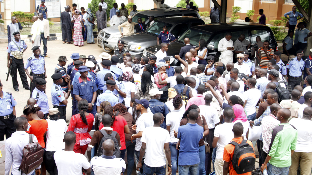 Youths protest alleged plot to impose monarch in Ekiti community