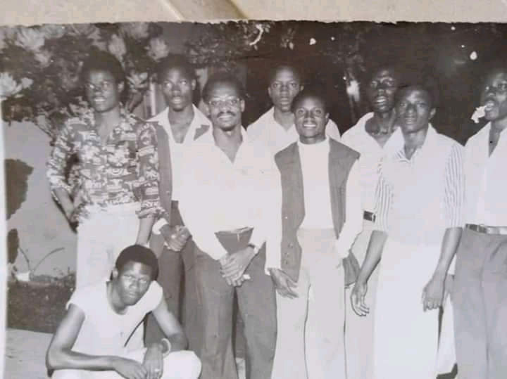 Edo State Governor Godwin Obaseki (third from right) and some classmates at University of Ibadan in 1977