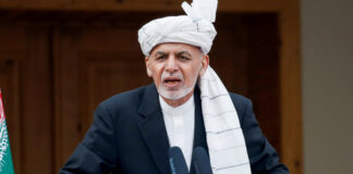 Afghanistan's President Ashraf Ghani speaks