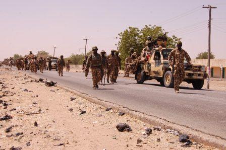 Nigerian Troops after recapturing Baga in 2015