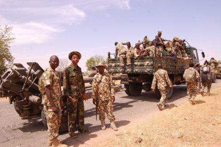 Nigerian Ground Troops after Recapturing Baga in 2015