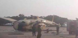 Crashed NAF Helicopter