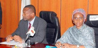 Budget Minister Senator Udoma-Udo-Udoma and Finance Minister, Mrs Zainab Ahmed