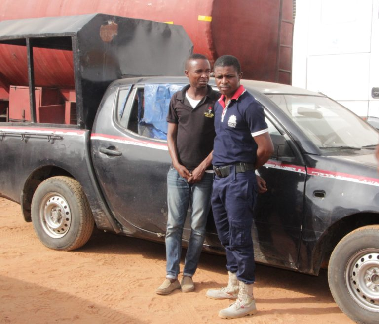 Police Parade NSCDC Officers, Confisticate Patrol Van over Oil Bunkering