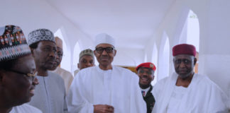 President Buhari at Jumuat Mosque
