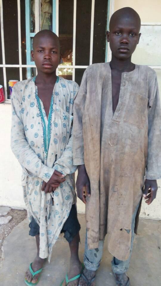 Captured Boko Haram spies by troops