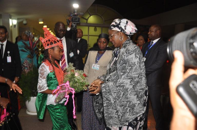 Mrs. Buhari arrives Addis Ababa