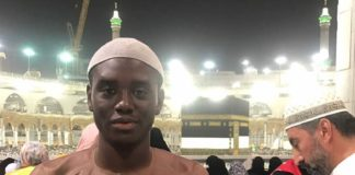 Gidado Shuaib of YouthsDigest in Mecca after receiving the news of SME100 award for Media and Communication