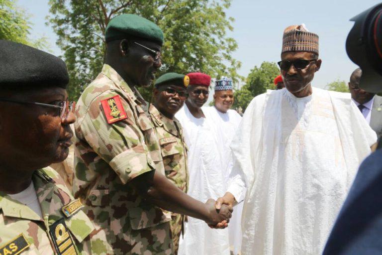 Still on President Buhari's Visit to Troops on Operation Lafiya Dole
