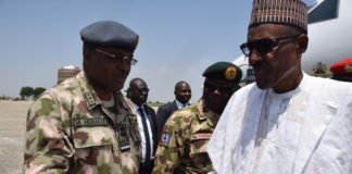 President Buhari at Frontline